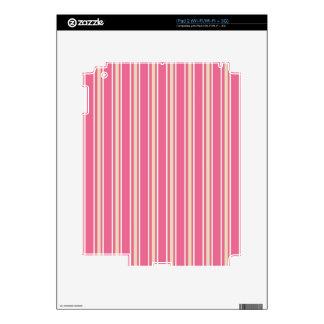 crema rosada y rayas blancas iPad 2 calcomanía