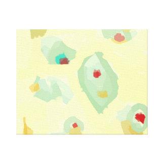 Crema simplista > impresiones del arte abstracto lona envuelta para galerias