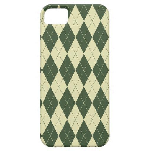 Crema verde y blanca de Argyle iPhone 5 Carcasa
