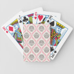 crema y dicha gris del damasco del moreno baraja cartas de poker