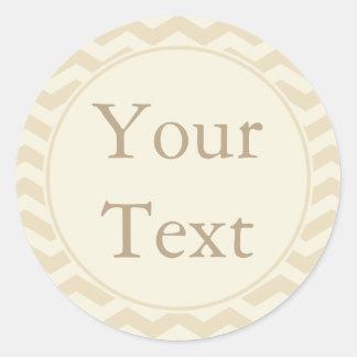 Crema y pegatinas o etiquetas de Ecru con el texto