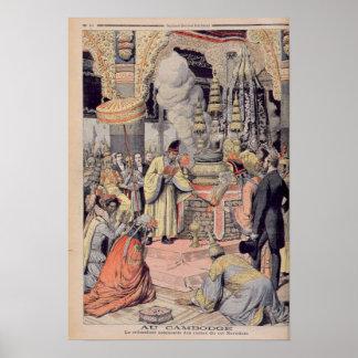 Cremación solemne de rey Norodom I Posters