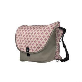 Creme and Purple Damask Messenger Bag