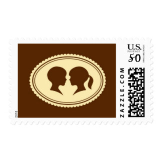Creme Brulee - Cameo, Cream and Brown Postage