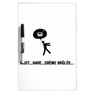 Creme Brulee Lover Dry Erase Board