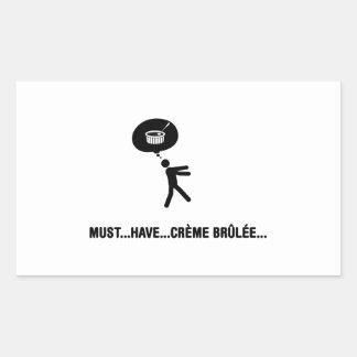 Creme Brulee Lover Rectangular Sticker