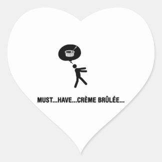 Creme Brulee Lover Heart Sticker