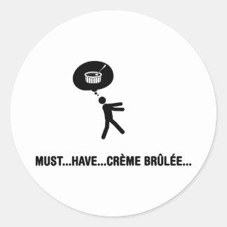 Creme Brulee Lover Classic Round Sticker