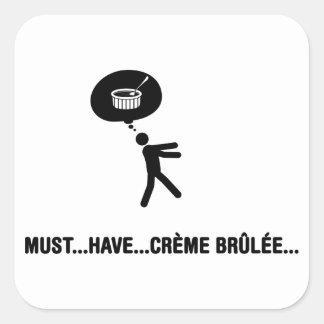 Creme Brulee Lover Square Sticker