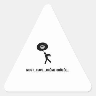 Creme Brulee Lover Triangle Sticker