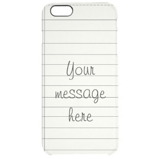 Creme Colored Notes Clear iPhone 6 Plus Case