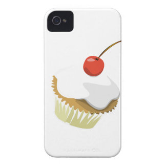 Creme cupcake with cherry Blackberry bold case