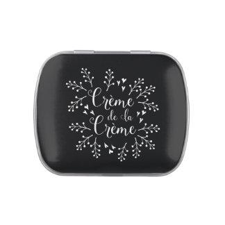 Creme de La Creme French Elegant Typography Jelly Belly Tins