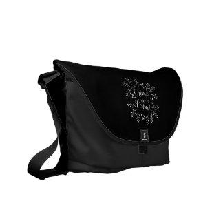 Creme de La Creme French Elegant Typography Messenger Bags