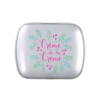 Creme de La Creme Pink Hearts Jelly Belly Tins