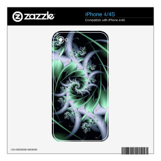 Creme De Menthe Iced Fractal Swirl Decal For The iPhone 4