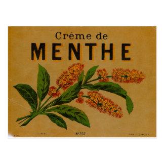 Creme de Menthe Postcard