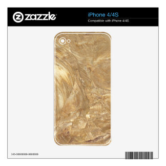 Creme Marble Faux Finish Decal For iPhone 4