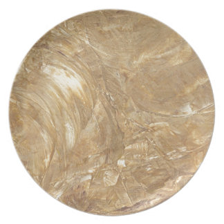 Creme Marble Faux Finish Plate