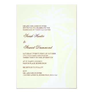 Creme Palm Tree Wedding Invitation