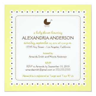 (Creme) Precious Custom Baby Shower Invitation