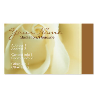Creme Rose Business Card