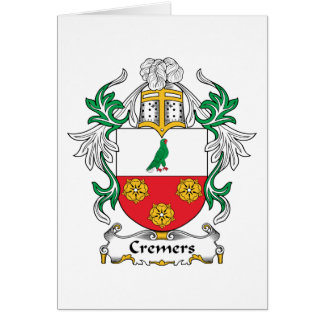 Cremers Family Crest Card