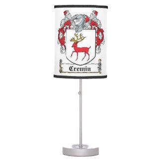 Cremin Family Crest Desk Lamps