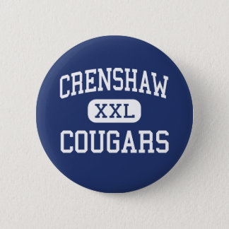 Crenshaw - Cougars - High - Los Angeles California Button