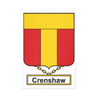 Crenshaw Family Crest Stretched Canvas Print