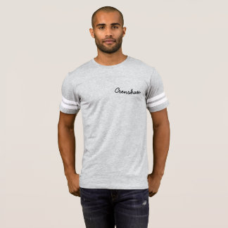Crenshaw Grey TShirt Striped Football Shirt Sleeve