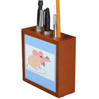 Crenshaw The Fuzzy Haired Mouse Desk Organizer