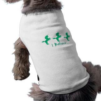 Creo diseño verde del unicornio playera sin mangas para perro