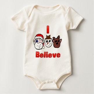 Creo el top del bebé de los caracteres del navidad