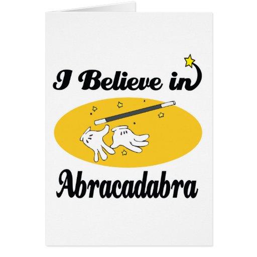 creo en abracadabra tarjeta de felicitación