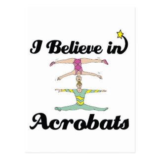 creo en acróbatas tarjeta postal