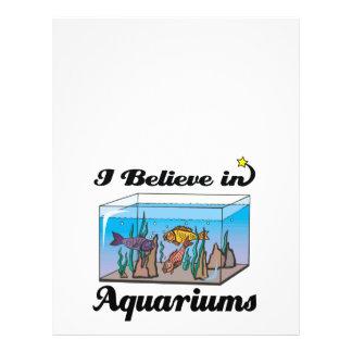 """creo en acuarios folleto 8.5"""" x 11"""""""