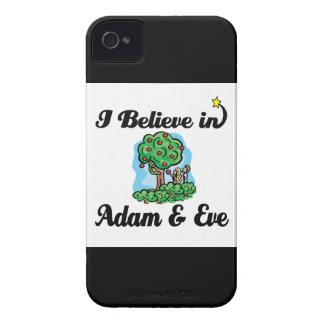creo en Adán y Eva Case-Mate iPhone 4 Cárcasa