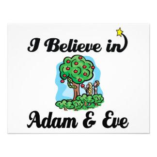 creo en Adán y Eva Invitacion Personalizada