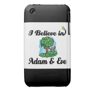 creo en Adán y Eva iPhone 3 Case-Mate Cárcasas