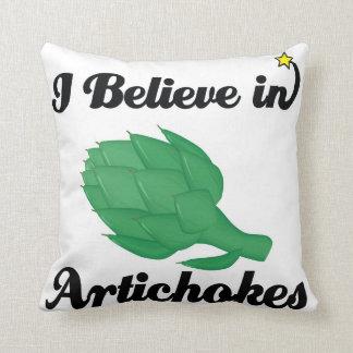 creo en alcachofas cojin