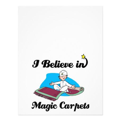creo en alfombras mágicas tarjetas informativas