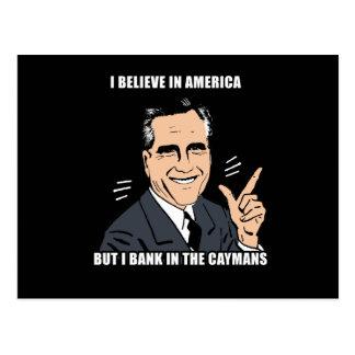 Creo en América pero ejerzo la actividad bancaria Postal
