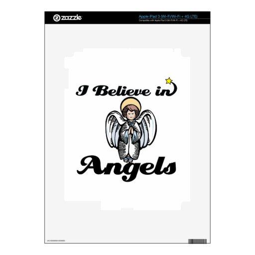 creo en ángeles iPad 3 pegatina skin
