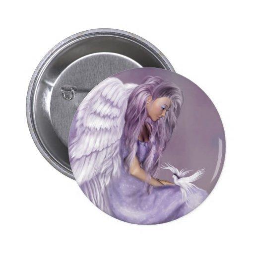 Creo en ángeles pin redondo de 2 pulgadas