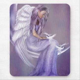 Creo en ángeles alfombrilla de ratón