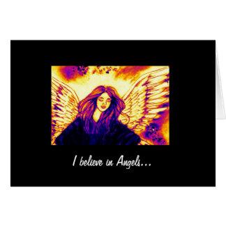 Creo en ángeles tarjeta
