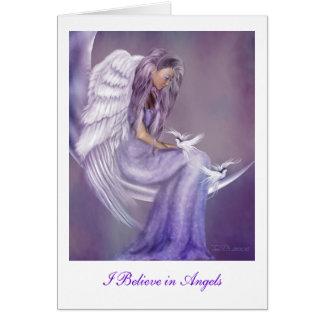 Creo en ángeles tarjeta de felicitación