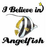creo en angelfish escultura fotografica