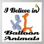 creo en animales del globo impresiones